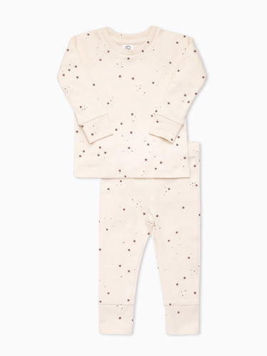 Organic Cotton Long Sleeve Pajamas in Starry