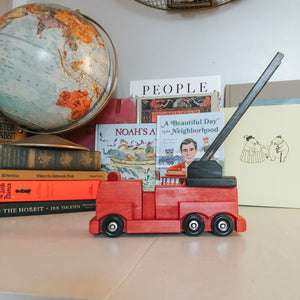 Handmade Wooden Fire Engine - Your Little Dove