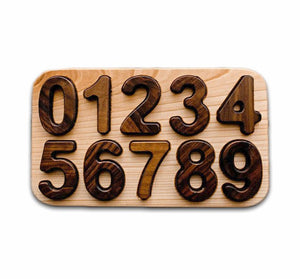 Handmade Wooden Numbers Puzzle