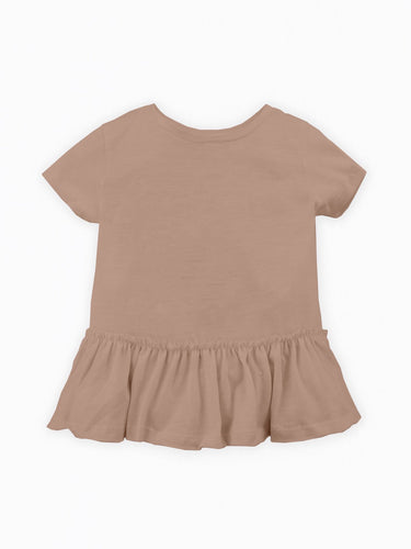 Organic Cotton Short Sleeve Peplum Top
