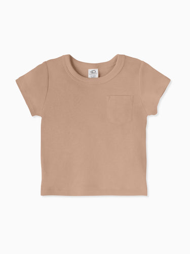Organic Cotton Everest Tee in Truffle