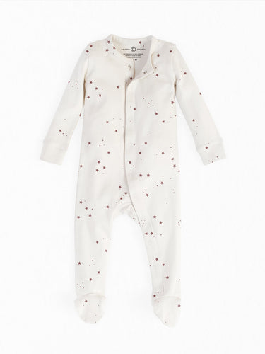 Organic Cotton Footed Sleeper in Starry