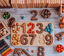 Load image into Gallery viewer, Handmade Wooden Numbers Puzzle