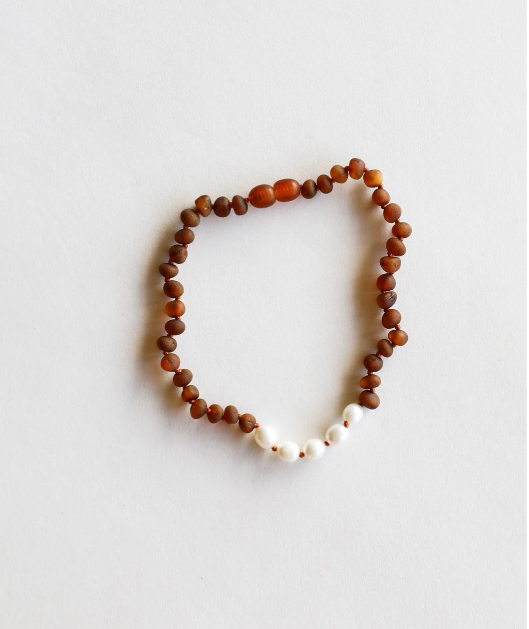 Raw Baltic Sea Amber & Freshwater Pearl Necklace