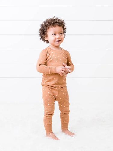 Organic Cotton Square Dot Pajama Set