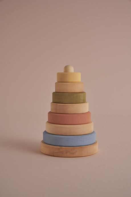 Stacking Tower in Natural Pastel