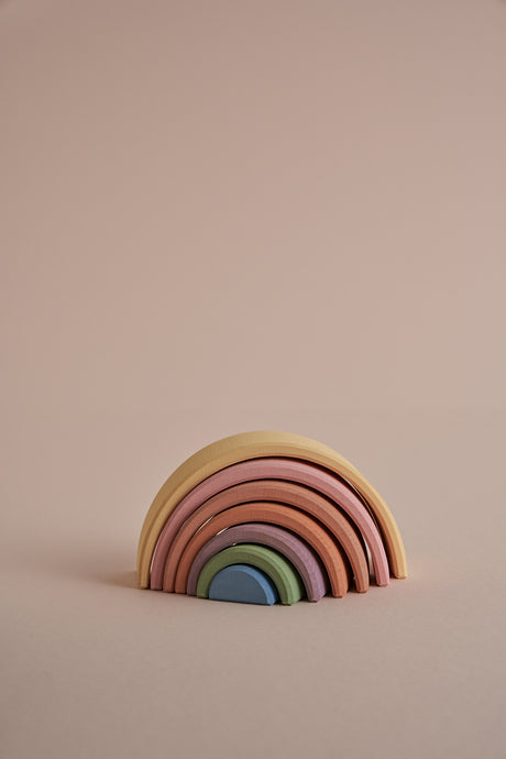 Arch Stacker in Pastel Rainbow