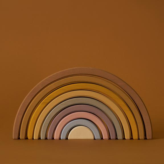 Giant Wooden Arch Stacker in Desert Rainbow - Your Little Dove