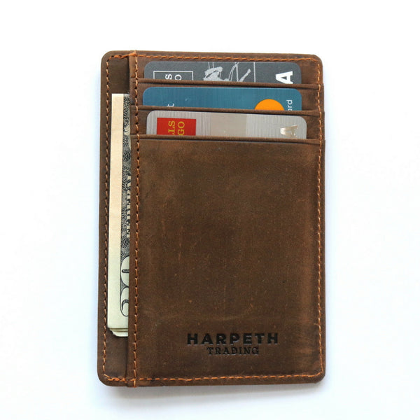 Harpeth Trading Slim Genuine Leather Wallet Card Holder