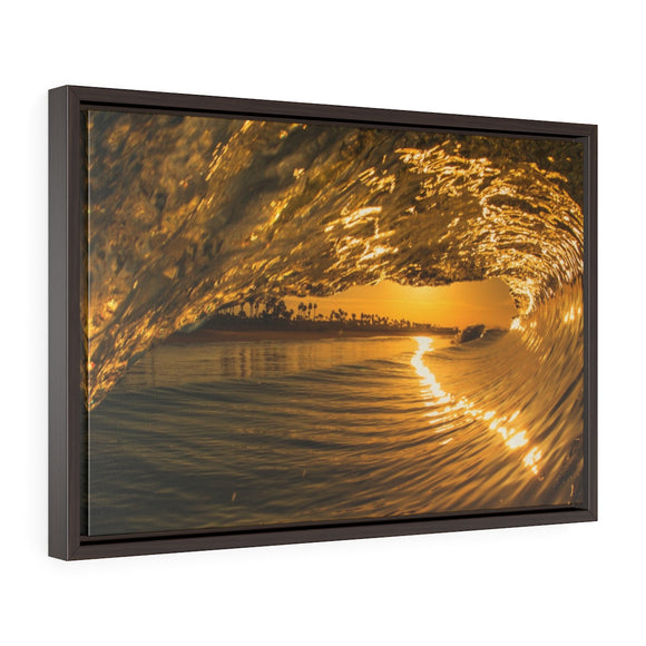 Framed Wavescapes Photo Canvas by H2OH SHOP