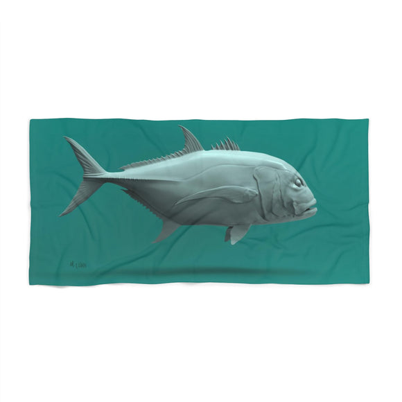 Giant Trevally Beach Towel