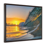 Framed Wavescapes Photo Canvas by H2OH SHOP. Made in USA.