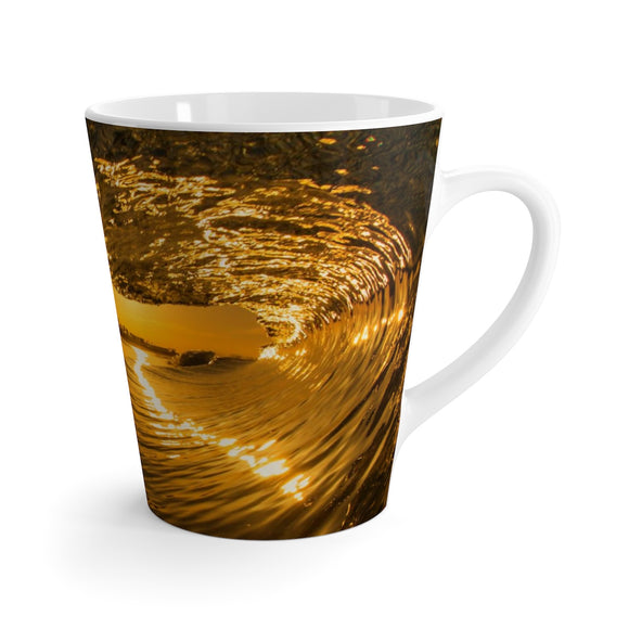 Latte Mug: Golden Vortex