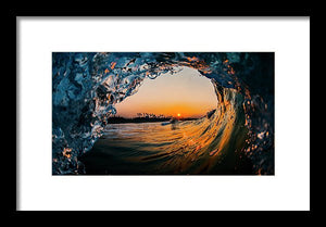Framed Wavescapes Photograph by H2OH SHOP. Made in USA.