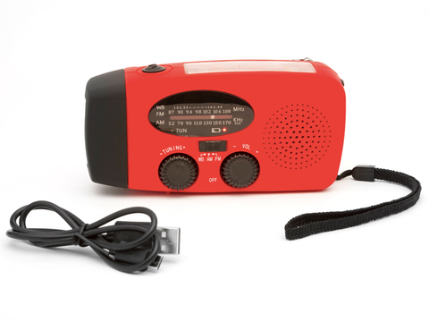 Emergency Charger, Flashlight & Radio Kit