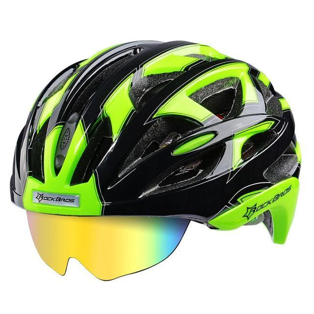 RockBros WT055 Cycling Helmet Road Bike MTB Helmet 57-62cm with 3 Lenses