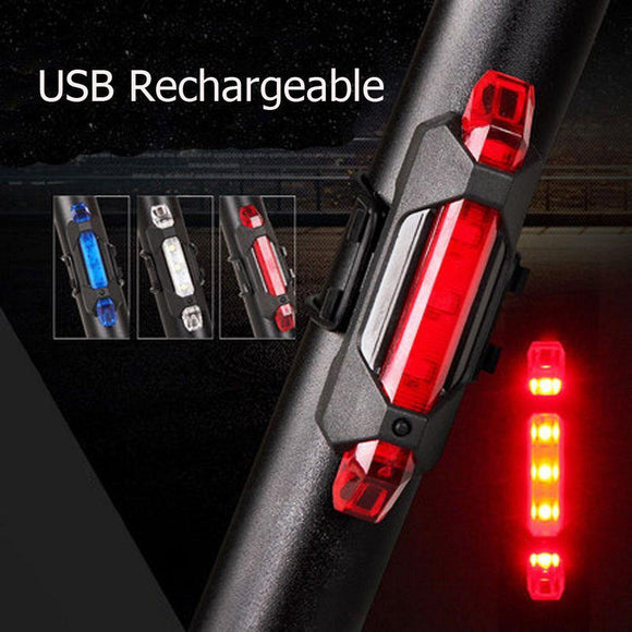 2000 Lumen USB Rechargeable Cycling Light Bicycle Bike LED Front Rear Lamp Set