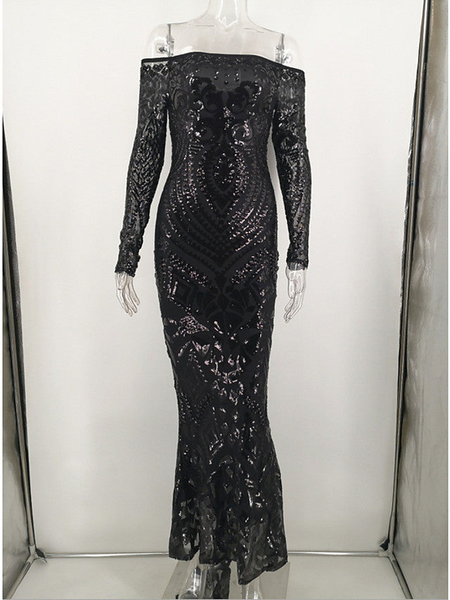 The Frenze- 2020 A Lacy Quinned Maxi Dress