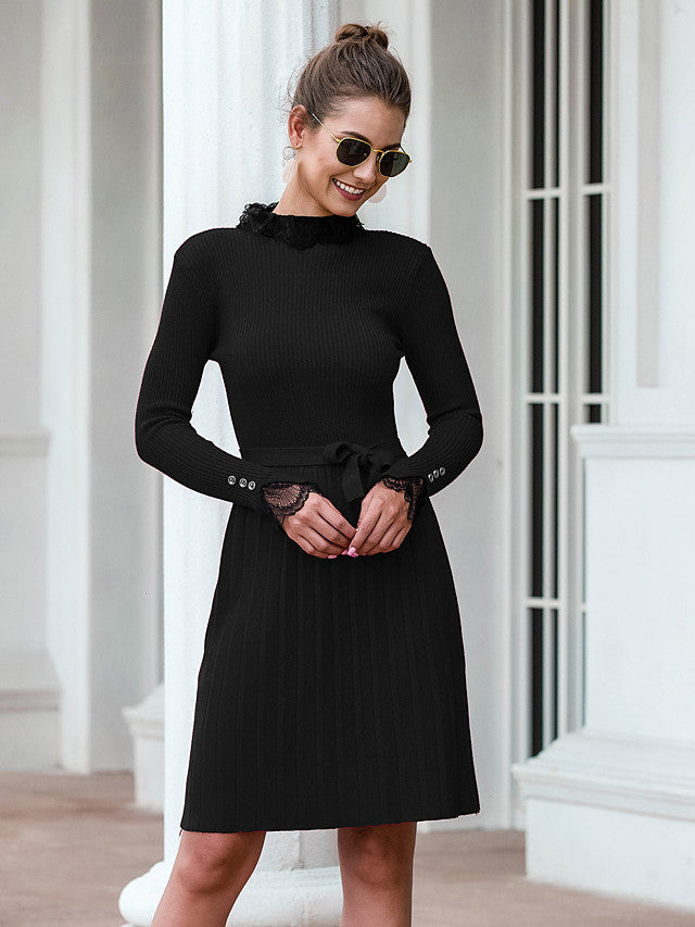 The Frenze- Autumn 2020 Vintage Sweater Dress