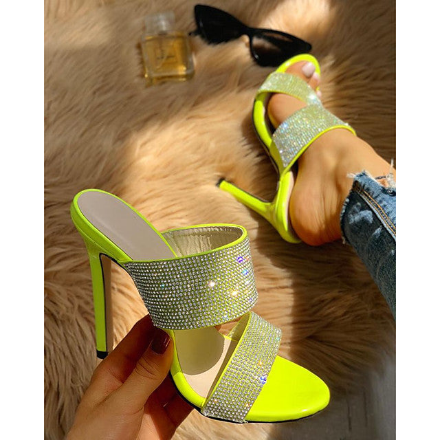 The Frenze- A Crystal Sequinned Heel