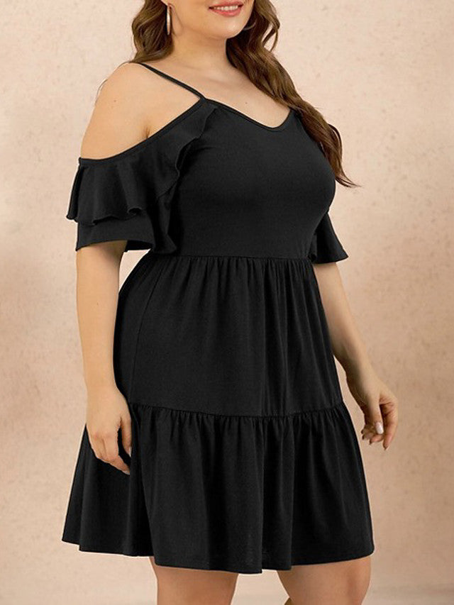 The Frenze- 2020 Frills and Thrills Plus Size Party Dress