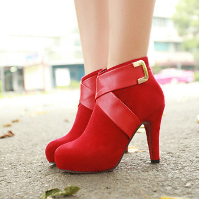 The Frenze - A Solid Colored Fall Booties