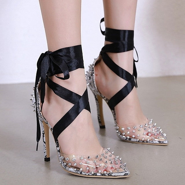 The Frenze - Satin & Spiked Heels