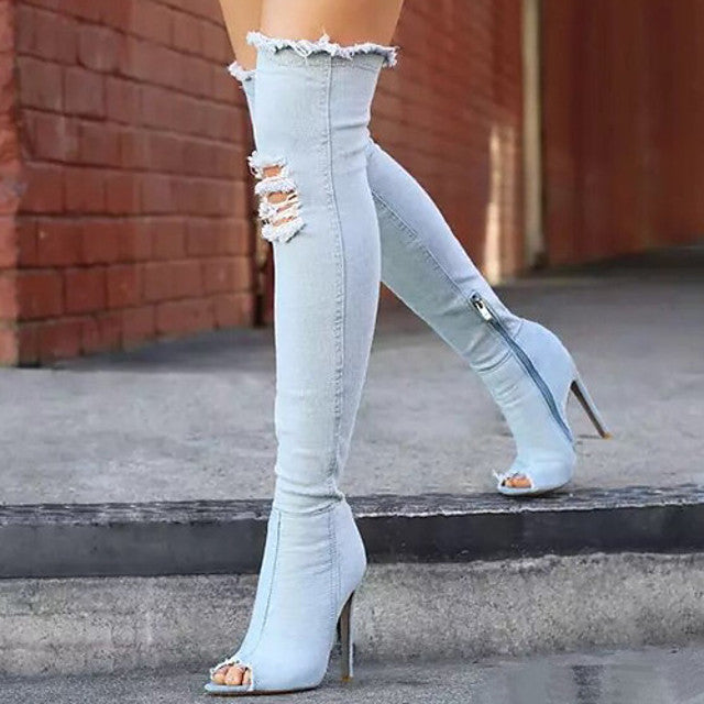 The Frenze - Denim 2020 Over The Knee Boots