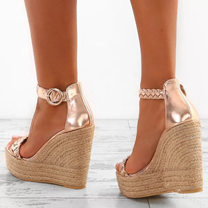 The Frenze- A Satin Wedge Look