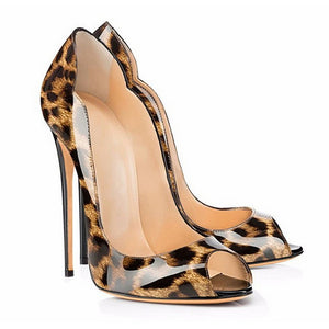 The Frenze - A Glossy Print High Heel