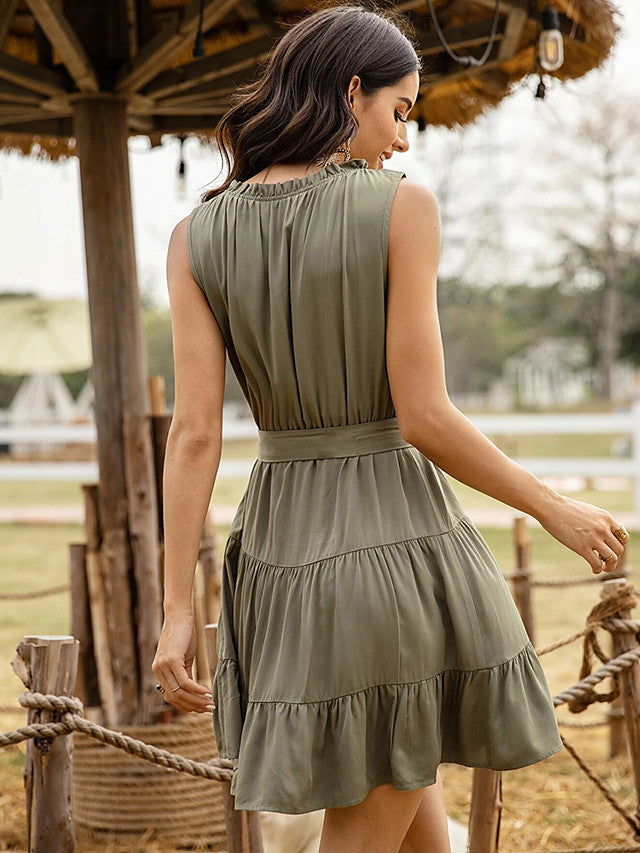 The Frenze- 2020 Earthy Boho Sheath Dress