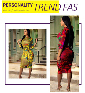 The Frenze - 2019 Fashion Print Bodycon Party Dress