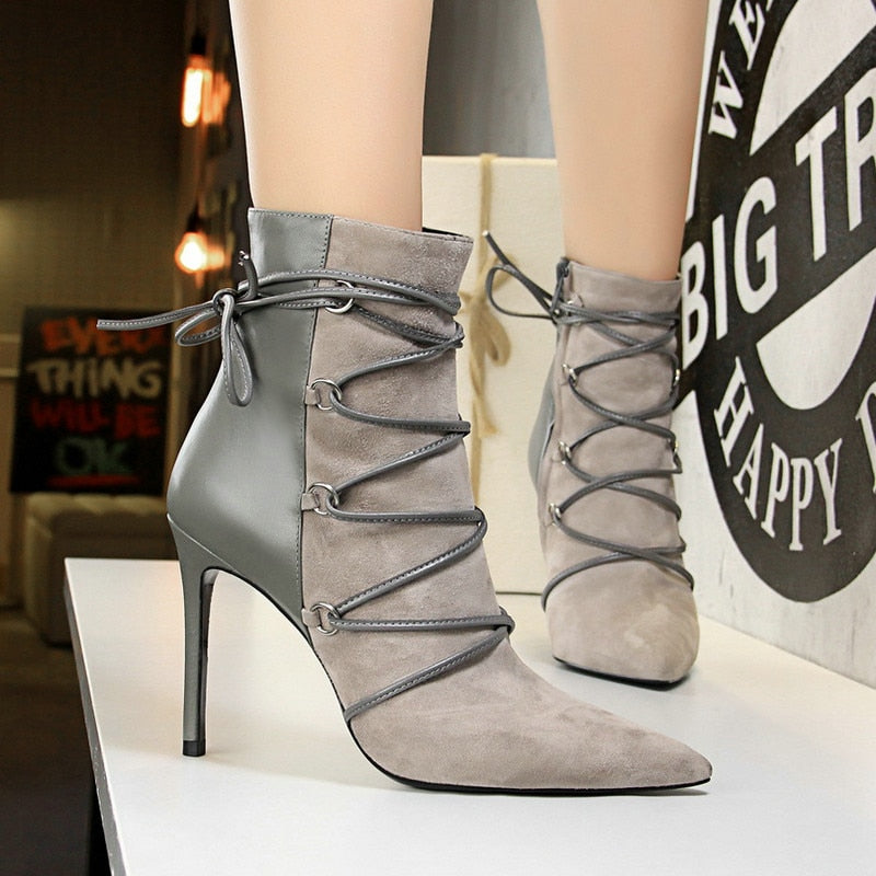 The Frenze - Earthtoned 2020 High Heel Ankle Boots