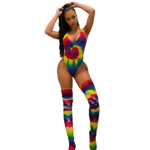 The Frenze - Traditional Rainbow Tie Dye Bodysuit
