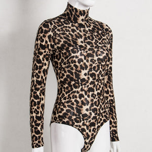The Frenze - Leopard Turtle Neck Body Suit