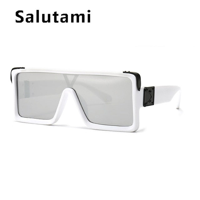 The Frenze - Vintage Galactica White Squaared Sun Glasses