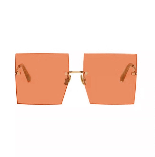 The Frenze - Show Off Over Sized Bronzed Tint Sunglasses