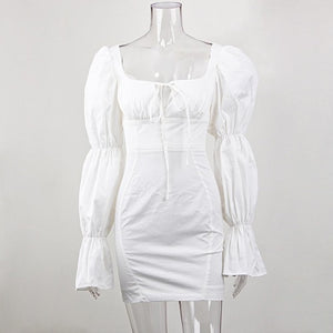 The Frenze- A 2020 Corset Vintage White Mini Dress