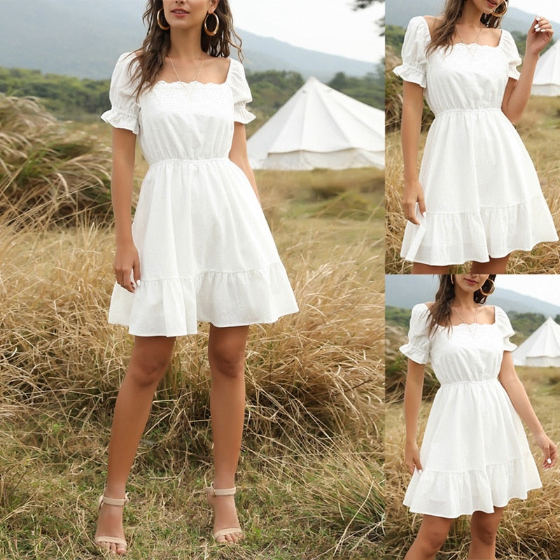 The Frenze- A Summer Bell Lace Dress