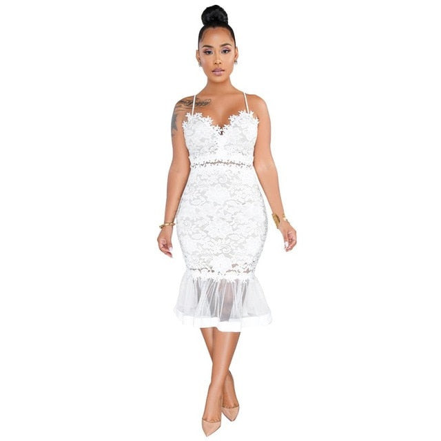 The Frenze - Fish Tail Embroidered Dress