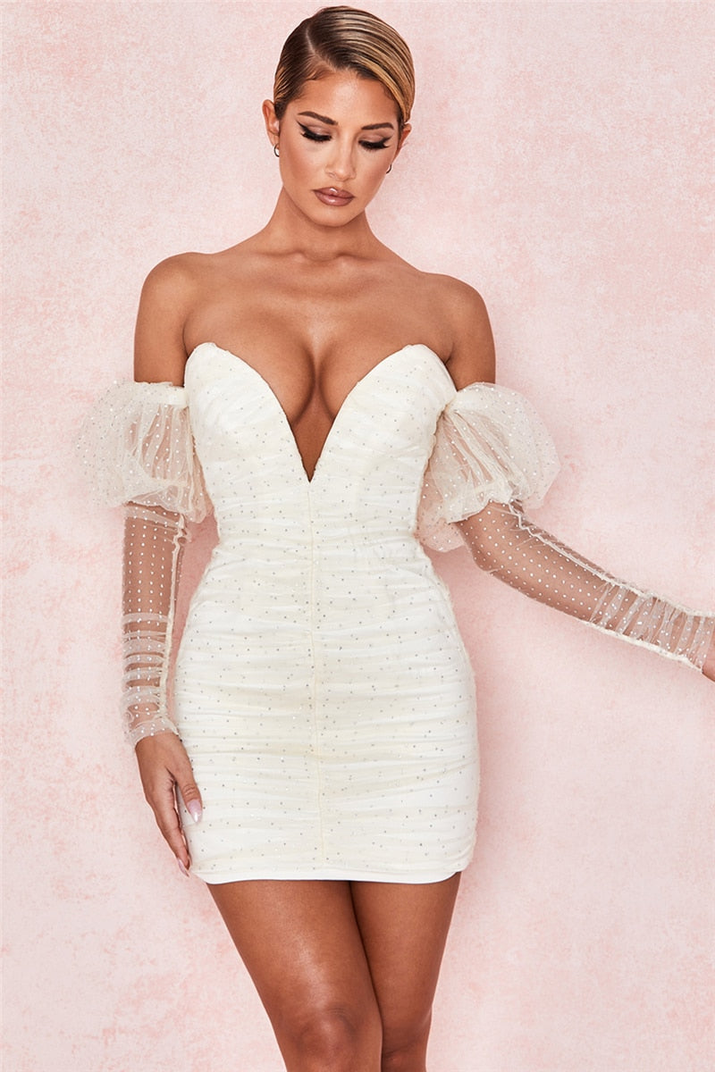 The Frenze- Quinned Mesh Bodycon Summer Dress