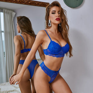 The Frenze- A Lacy Blue Bra & Panty Set