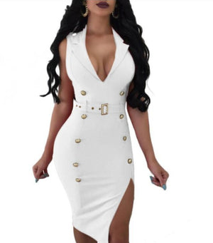 The Frenze - 2020 Glamour Button Bodycon Party Dress
