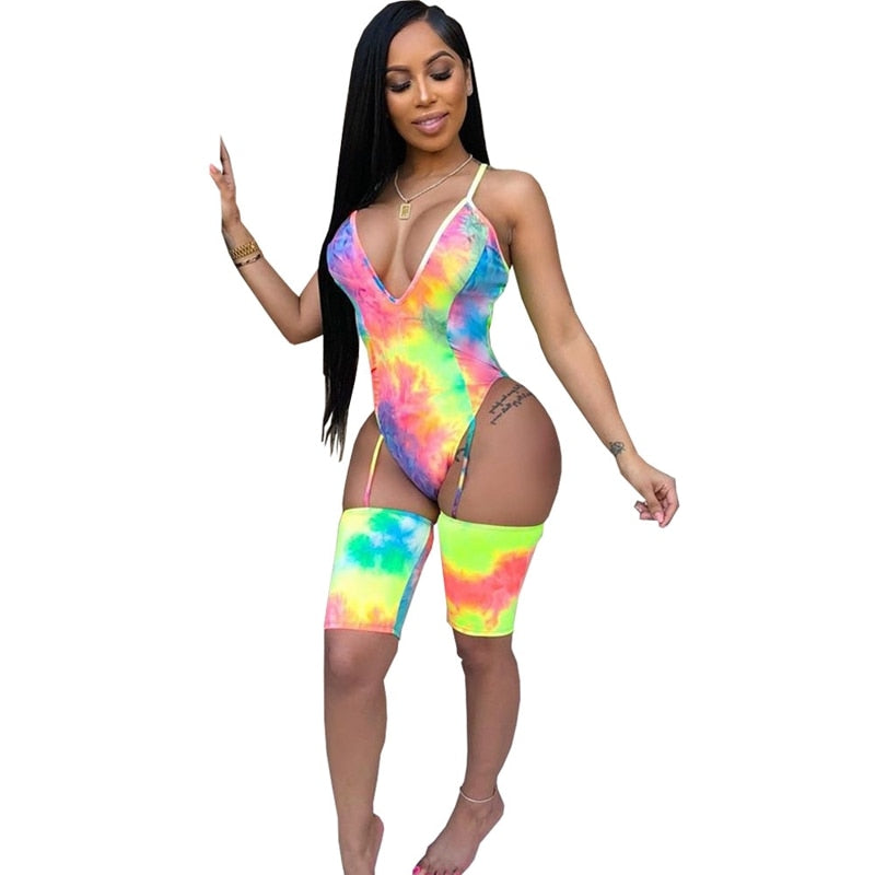 The Frenze - A Bright Tie Dye Creation Bodysuit