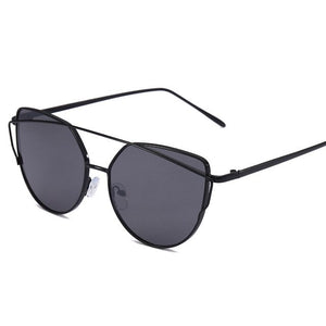 The Frenze - Cat Eyed Vintage Round Reflective Sunglasses