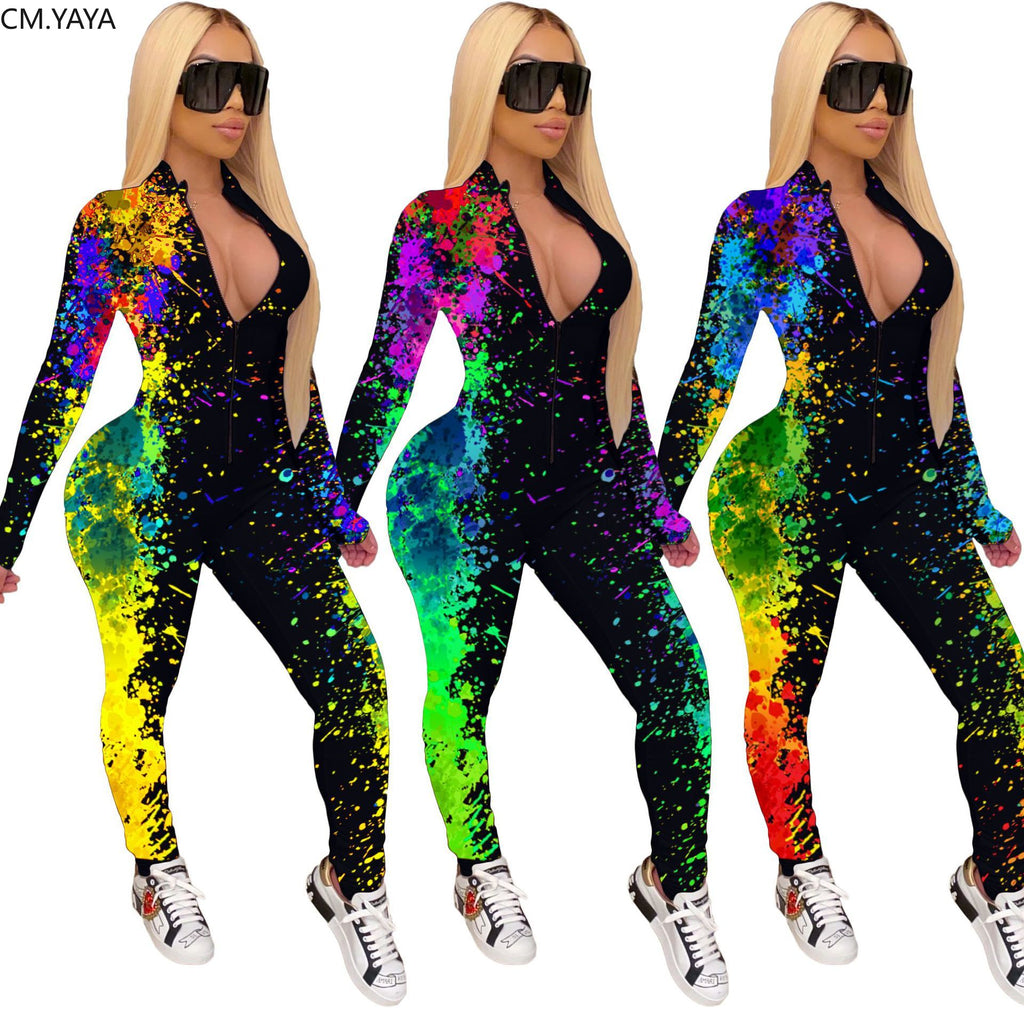 The Frenze - A Painted Galaxy Work Out Bodysuit