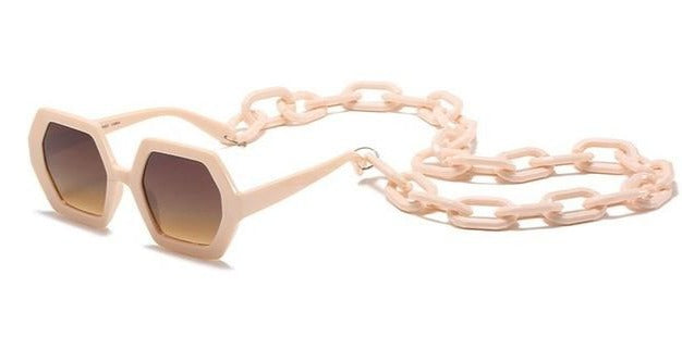 The Frenze - Large Chain Exaggerated Fashion Sunglasses