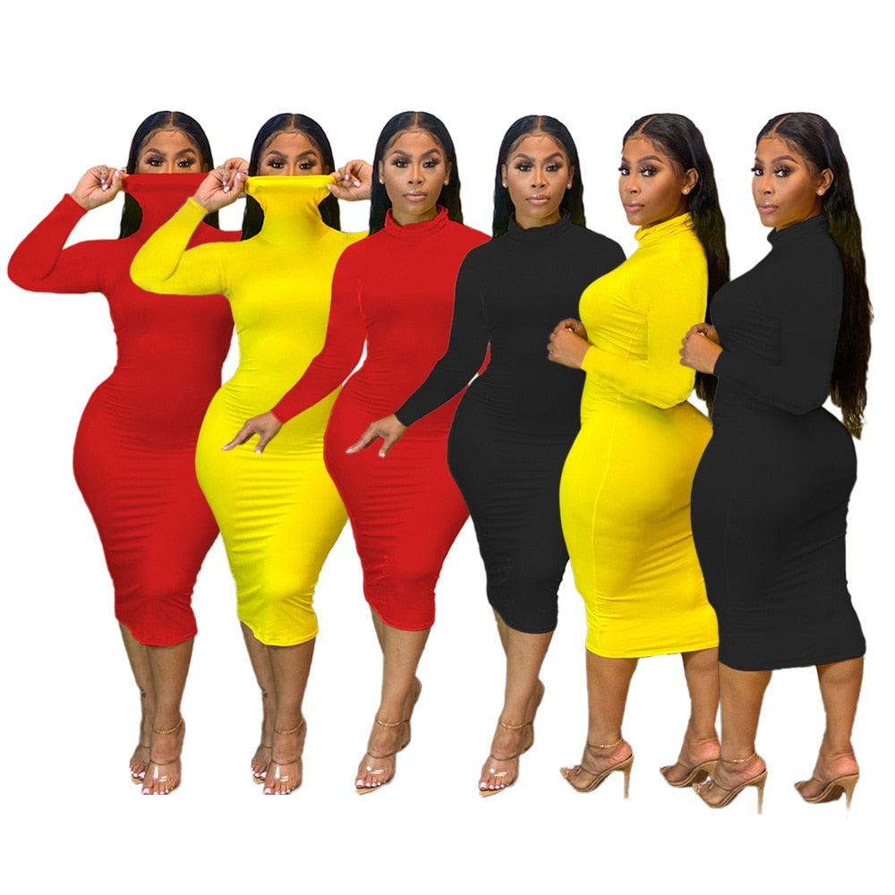 The Frenze - The Masked Bodycon Sweater Dress -Plus Size Avail