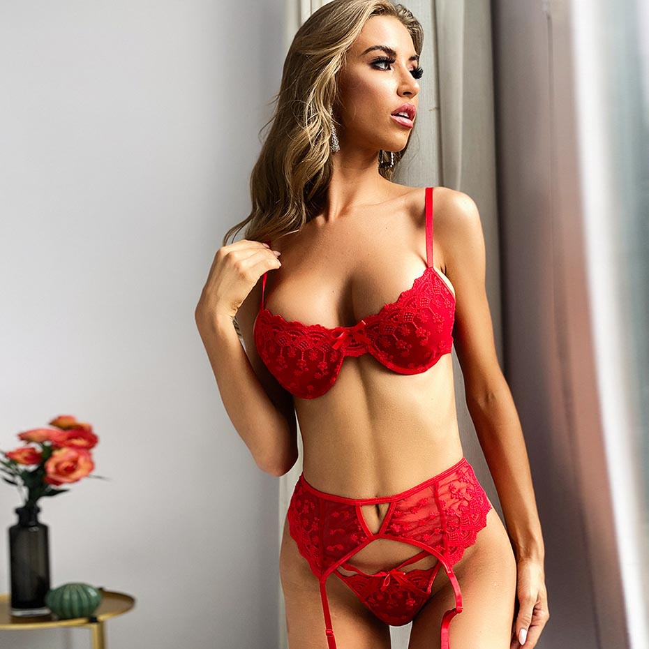 The Frenze - Red Lust 2020 Micro Bra & Panty Set