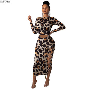 The Frenze - Autumn 2020 High Waist Animal Print Maxi Dress